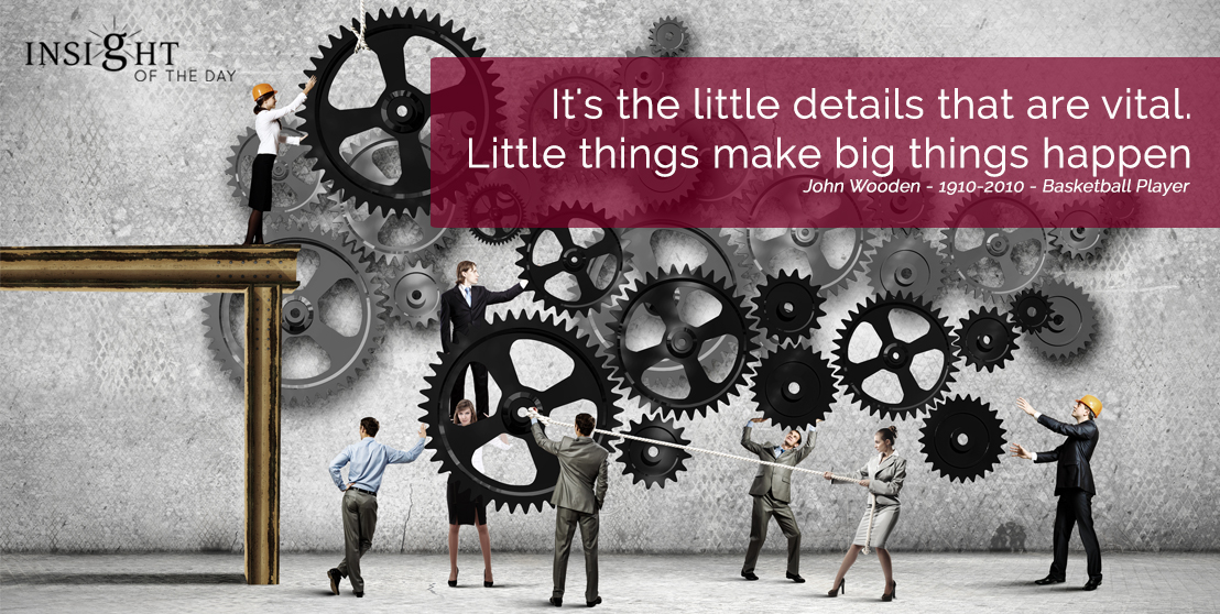 It's the little details that are vital. Little things make big things happen. John Wooden - 1910-2010 - Basketball Player For your Psychic readings & Psychic Distance Healing visit the store. Or read some fun stuff on our fb page.